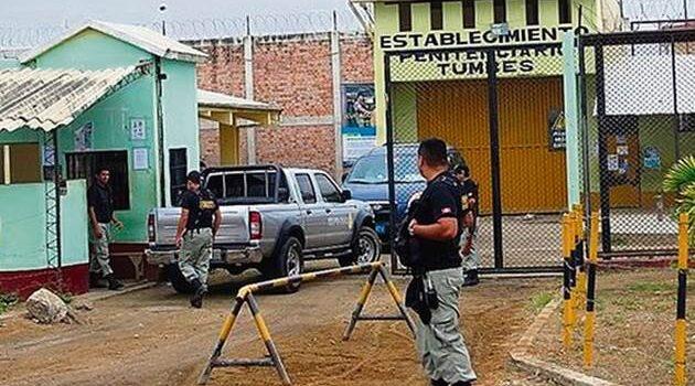 Durante operativo en penal de Tumbes encuentran celulares y droga