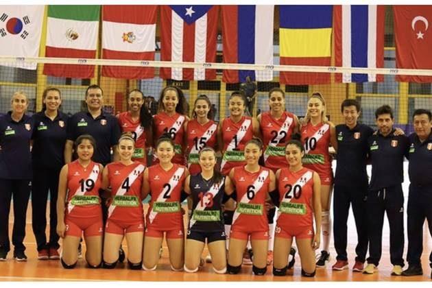 Perú clasificó a cuartos de final de mundial de voleibol Sub 18