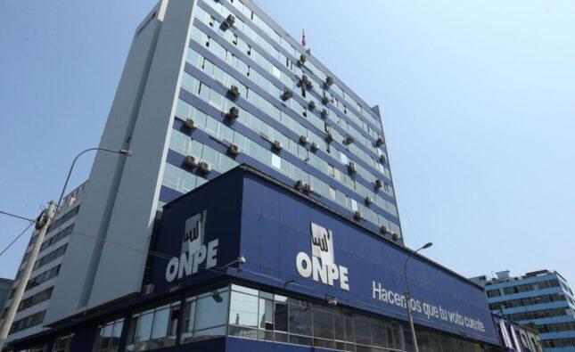 Elecciones congresales: ONPE