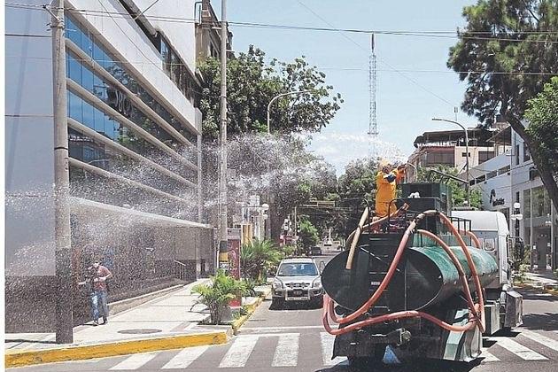 Desinfección de Piura, Castilla y otros distritos comienza este martes