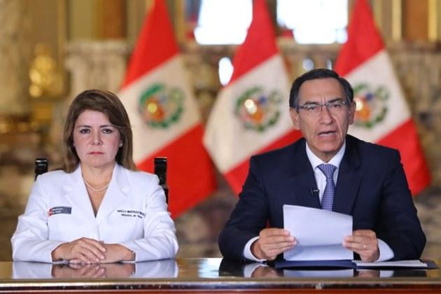 Presidente Vizcarra confirma primer caso de coronavirus en Perú