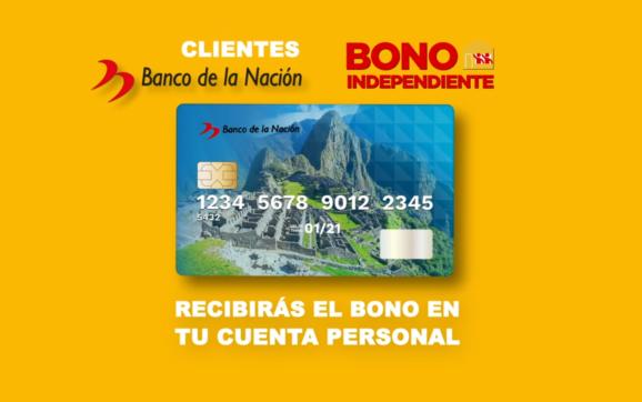 Bono Independiente de S/ 380 soles