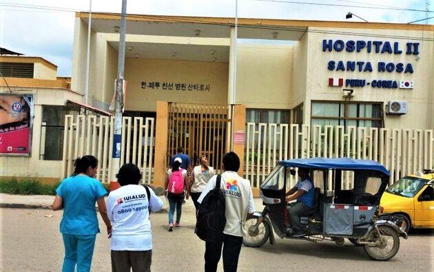 Covid 19 Positivo en Hospital Santa Rosa