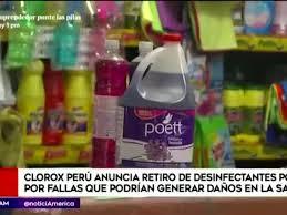 Las autoridades sanitarias y el Digesa le piden a la población no comprar el desinfectante Poett y se unen para atender las denuncias contra los comercios que lo venden