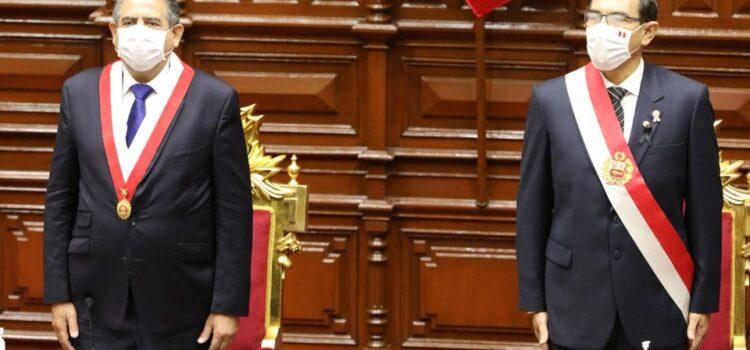 Presidente Vizcarra se reunió con Manuel Merino para tratar temas sobre el Perú
