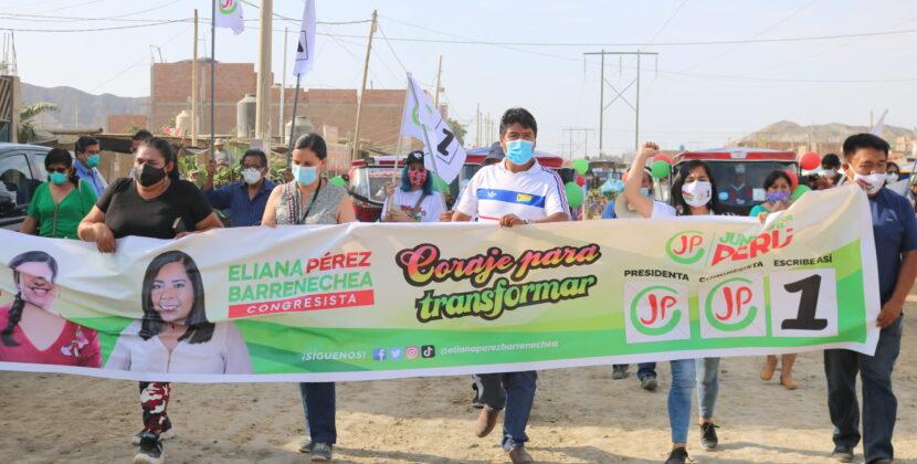 Candidata del partido Juntos por el Perú visitó Trujillo