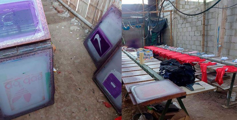Incautan más de dos mil polos en taller clandestino en Tumbes