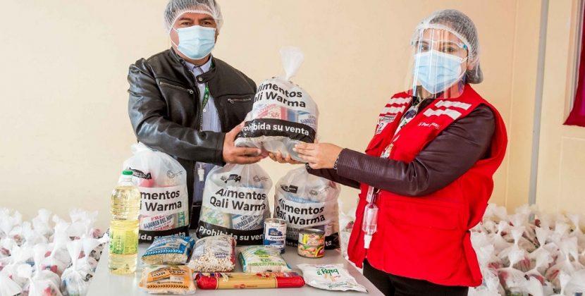 Programa Qali Warma entrega 900 canastas de alimentos en Paita